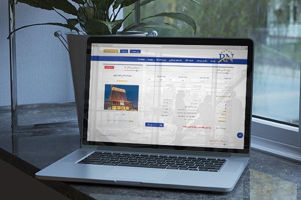 طراحی سایت رزرو آنلاین هتل رهی نو